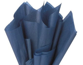 Navy Blue Tissue Paper . 20 x 30 inches . 24 sheets