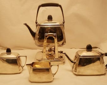 Tiffany & Co Five Piece Silver Tea Set