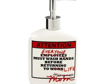 soap dispenser, liquid soap pump, mom's wisdom, funny gift for mom, bathroom decor, hand sanitizer dispenser, soap dish