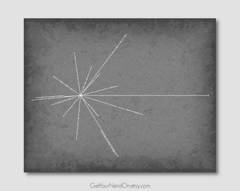 Science as Art - Pulsar Map - Available as 8x10, 11x14 or 16x20