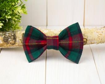 Tartan Holiday Dog Bow Tie // Pet Bow Tie