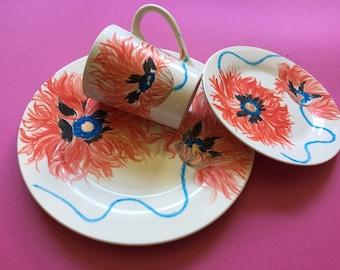 Hand painted Porcelain plate,mug and bowl