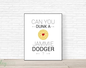 Can you dunk a Jammie Dodger? Print, biscuit