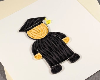 3D Blank Quilled Graduation Card Congratulations Quilling Card