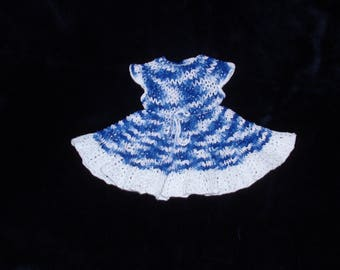 Hand crocheted AG doll dress