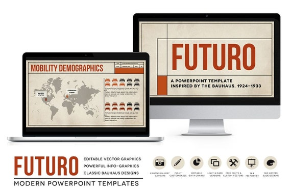 Futuro powerpoint templates bauhaus styled presentation futuro powerpoint templates bauhaus styled presentation layouts for ebooks classroom business toneelgroepblik Image collections