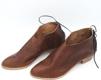 The Griffin. Koniec Antique Brown. 3cm. Handmade Boots. Comfort Shoes. Soft Shoes.