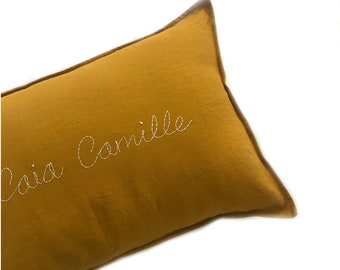 CUSTOM Handstitched Cushion cover- MUSTARD