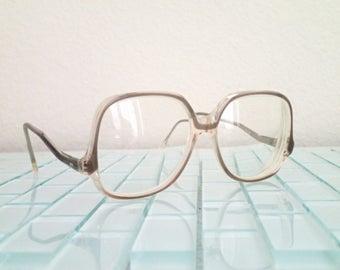 Brown Mod Eyeglasses Big - Mocha DARLING