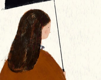 Autumn girl print
