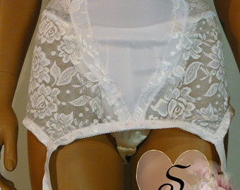 Vintage Style Classic Half transparante step-in  Size  XXl