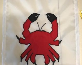Crab Ocean / Seashore / Beach Handmade Garden Flag