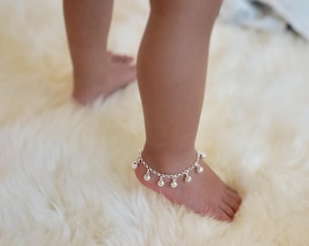 Baby Anklet || Traditional Cambodian Baby Anklet || Sterling Silver || Boho Anklets || Baby Anklet || Jingle Anklet by Danita Apple