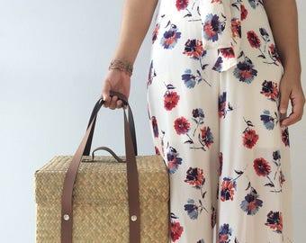 Basket bag / Picnic Bag / Straw Bag / Bridesmaids Totes / Woven Bag / Hand bags / Straw tote / seagrass bag / wicker bag