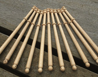 Pack of Ten Maple Midland Lace Bobbins
