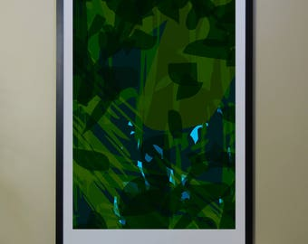 "Abstract Composition: Aspen_02_01i - Contemporary Art - Abstract Design - 26"" x 46"" and 13"" x 19"" - Limited Edition Print"