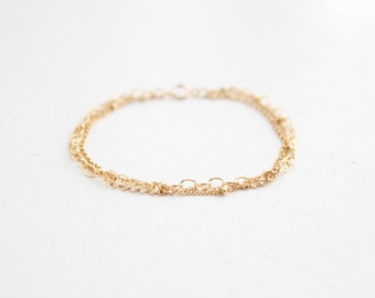 Multi Chain Bracelet - 14k Gold Filled or Sterling Silver - James Bracelet
