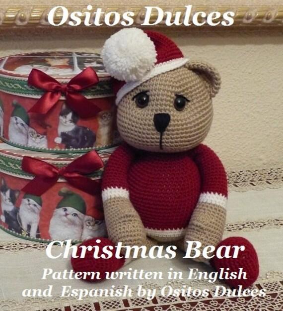 PATTERN / PATRÓN: Osito de navidad Patrón Amigurumi en pdf en