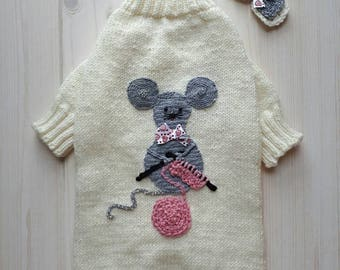 Sweater for dog or cat handmade