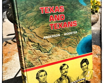 Texas and Texans by Andersen • Worcester 1974 School library book