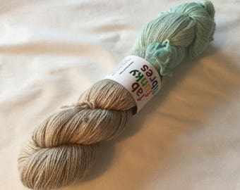 SALE   100 Grams 50 baby alpaca silk cashmere beige and blue