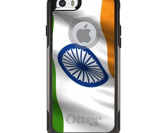 OtterBox Commuter for Apple iPhone 5S SE 5C 6 6S 7 8 PLUS X 10 - Custom Monogram - Any Colors - India Waving Flag Indian