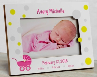 Personalized Baby Picture Frame, Baby Girl Picture Frame, New Baby Girl Frame, Baby Girl Frame, Girl Baby Frame, Picture Frame Baby Girl,