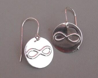 Sterling Silver Infinity Earrings, Math Jewelry, Geekery, Nerd, Math Teacher Gift, Science Jewelry, Geometry, Forever Love, Women