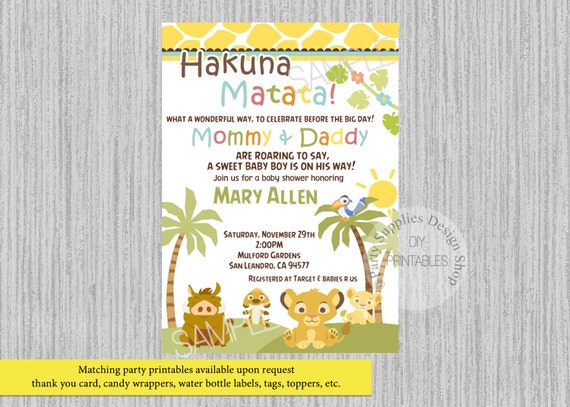 Printed or digital baby simba lion king baby shower like this item filmwisefo Gallery