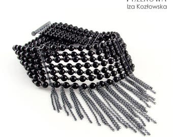 Black Swan - choker with Swarovski pearls