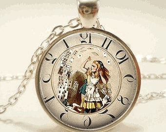 Alice In Wonderland Glass Cabochon Necklace