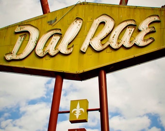 Dal Rae Restaurant Neon Sign Print | Los Angeles Art | Pico Rivera | Neon Sign Art | Retro Kitchen Decor | Los Angeles Photography