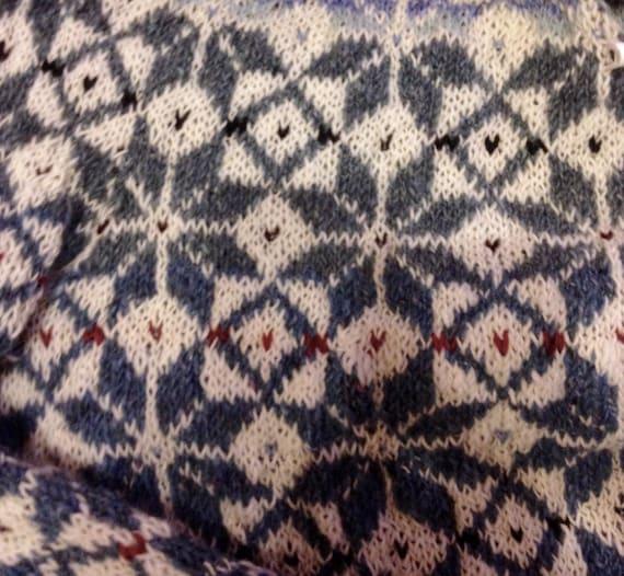 Fair Isle Sweater Blue White Sweater Comfy sweater Nordic