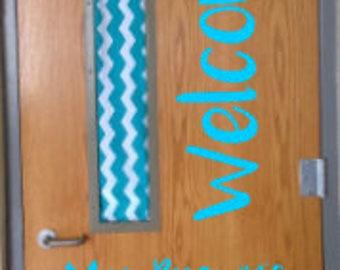 classroom door. Classroom Door Welcome Vinyl - Personalized ClassRoom Teacher\u0027s