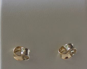 Sterling Silver and 9CT Yellow Gold knot studs