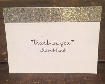 Wedding Thank you cards - Glitter Elegance