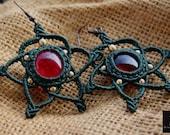 Micro-macrame earrings, S...