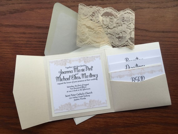 Elegant Inexpensive Wedding Invitations: Elegant And Classic Lace Wedding Invitations Affordable And