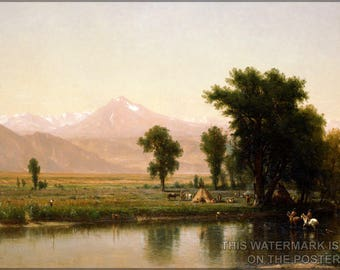 Poster, Many Sizes Available; Platte River By Worthington Whittredge, 1871 Denver Colorado