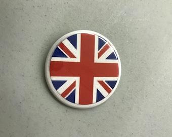 """Union Jack Flag 2.25"""" pinback button"""