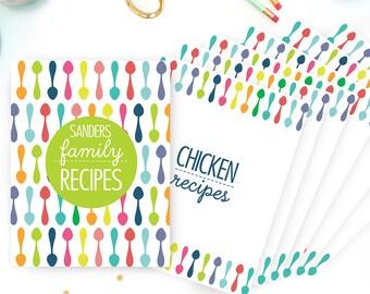 Printable Recipe Binder Divider - Kitchen Binder Divider Pages - Household Binder
