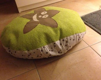 Nursing pillow cover, pregnancy pillow, green and Brown stars pattern