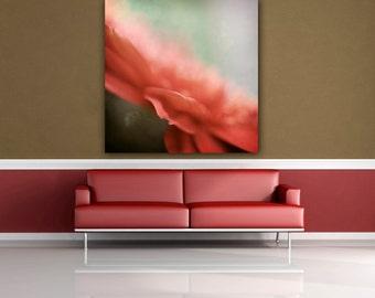 Pink Flower Photograph, Gerbera Daisy Photo, Floral Photo Print, Bedroom Decor, Living Room Wall Art, Botanical Photo Print, Square Wall Art