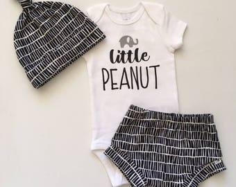 "NEW! ""Stacked""/Black and White/Infant Shorties/Toddler Shorties"