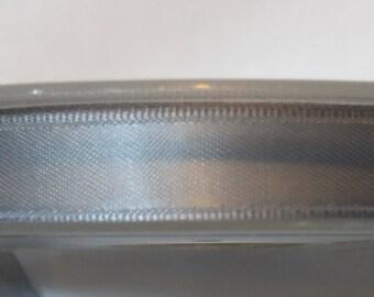 Satin ribbon double sided 11 mm, grey