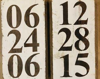 Custom Date Signs