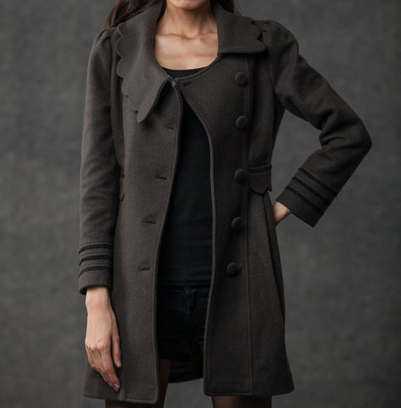 winter Dark wool C382 coat winter coat coat warm coat coats coat vintage midi gray clothing coat coat woman wool womens wool wSWSUB0Rqg