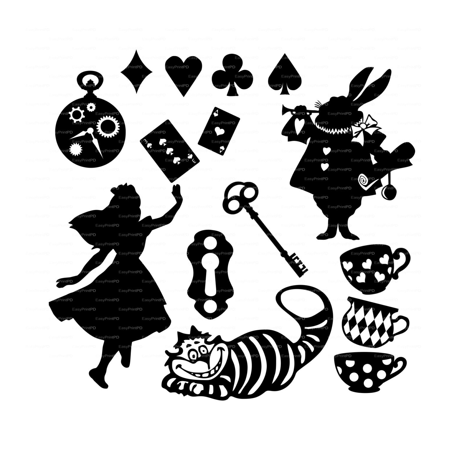Alice in wonderland vectors overlay svg dxf ai eps png zoom arubaitofo Choice Image