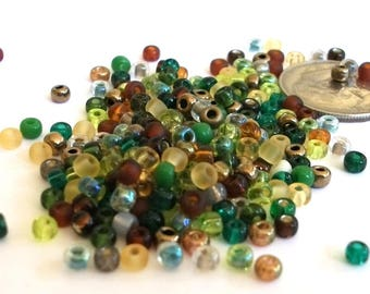 8/0 Georgia Earth Tones Miyuki Seed Beads in Bead Assortment Mix // 10 grams