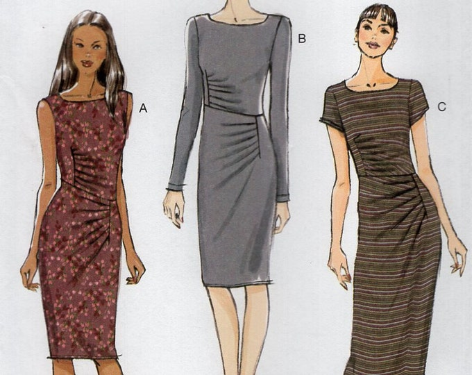 Vogue 8946 Free Us Ship Sewing Pattern Draped Dress Size 16/24 Bust 38 40 42 44 46 plus size  (Last size left) Out of Print 2013